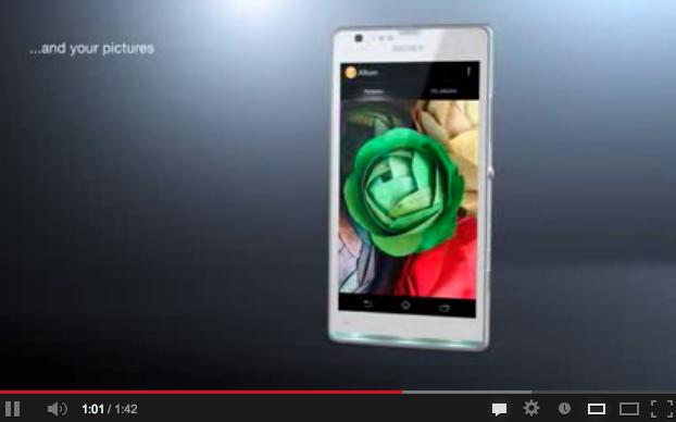 Xperia SP vidéo qui détaille le smartphone, moyen de gamme de Sony