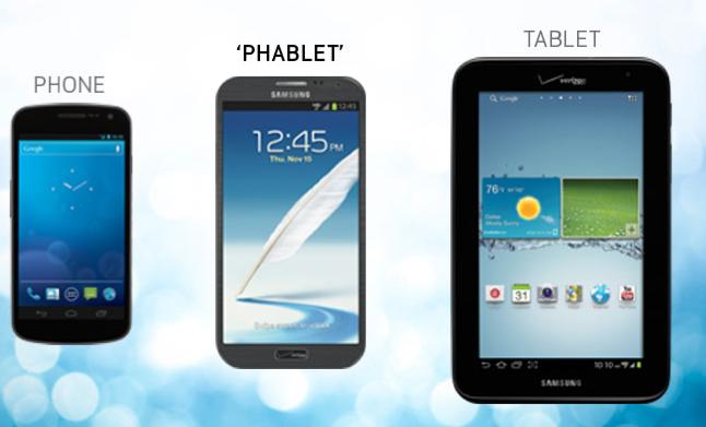 phone tablette et phablette